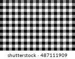 watercolor checked pattern.... | Shutterstock . vector #487111909