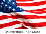 close up of the american flag | Shutterstock . vector #48712366