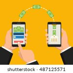 concept sending and receiving... | Shutterstock .eps vector #487125571