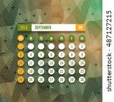 september 2017 full calendar...   Shutterstock .eps vector #487127215
