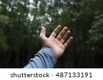 A Man Left Hand In The Air Wit...