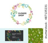 premium business identity set... | Shutterstock .eps vector #487135231