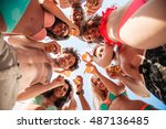 Down View Image Of A Group Of...