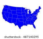 map of usa | Shutterstock .eps vector #487140295