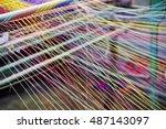 Loom Weaving Colors Threads  ...