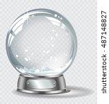 vector realistic transparent... | Shutterstock .eps vector #487148827