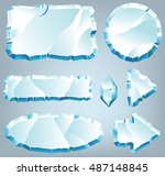 vector ice design elements for... | Shutterstock .eps vector #487148845