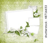 beautiful green frame for three ... | Shutterstock . vector #48716653