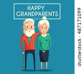 happy grandparents. vector...