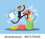 business growth concept | Shutterstock .eps vector #487174435