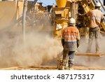 exploration rc drilling | Shutterstock . vector #487175317