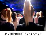 fashion show  a catwalk event... | Shutterstock . vector #487177489