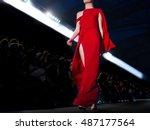 fashion show  a catwalk event ... | Shutterstock . vector #487177564