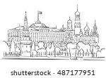 kremlin  moscow  panoramic...   Shutterstock .eps vector #487177951