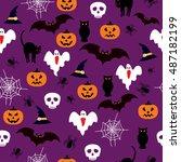 seamless pattern background... | Shutterstock .eps vector #487182199