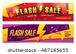 flash sale banners template... | Shutterstock .eps vector #487185655