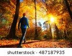 Male Hiker Walking Towards The...