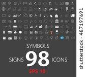 set of vector illustration of... | Shutterstock .eps vector #487197691