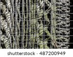 an abstract selection of caged... | Shutterstock . vector #487200949
