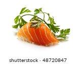 japanese cuisine    salmon ... | Shutterstock . vector #48720847
