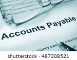 Small photo of Paper with sign Accounts payable. Business concept.