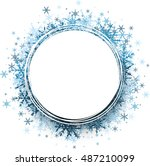 white winter round background... | Shutterstock .eps vector #487210099