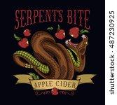"""serpent's bite"" apple cider... | Shutterstock .eps vector #487230925"