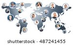 business people talking on the...   Shutterstock . vector #487241455
