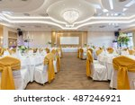 wedding hall or other function... | Shutterstock . vector #487246921