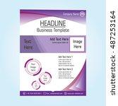 business cover template vector | Shutterstock .eps vector #487253164