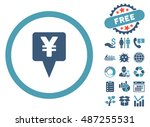 yen map pointer icon with free... | Shutterstock .eps vector #487255531