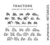 set icons of tractors | Shutterstock .eps vector #487268101