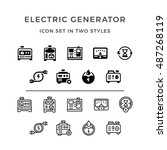 set icons of electrical...