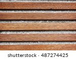 wood and concrete wall... | Shutterstock . vector #487274425