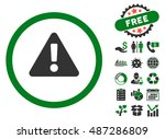 warning pictograph with free...