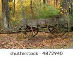 Old Time Country Wagon In Autumn