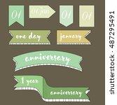 ribbon banners | Shutterstock . vector #487295491