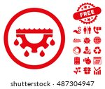 water service gear icon with... | Shutterstock .eps vector #487304947