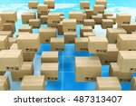global logistics  shipping and... | Shutterstock . vector #487313407