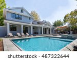 custom home  menlo park  back... | Shutterstock . vector #487322644
