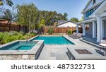 custom home build  menlo park ... | Shutterstock . vector #487322731