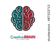 brain idea creative logo icon... | Shutterstock .eps vector #487323715