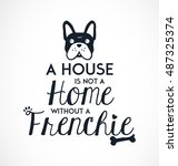 french bulldog typographic... | Shutterstock .eps vector #487325374