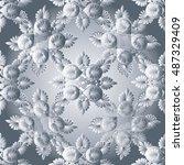 elegant light white abstract... | Shutterstock .eps vector #487329409