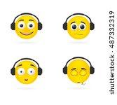 vector illustration smile... | Shutterstock .eps vector #487332319