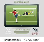 illustration of a goalkeeper... | Shutterstock .eps vector #487334854