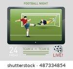 illustration of a goalkeeper... | Shutterstock .eps vector #487334854