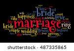 marriage word cloud on black... | Shutterstock .eps vector #487335865