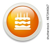 birthday cake button | Shutterstock .eps vector #487344067