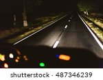 fast night driving  view from... | Shutterstock . vector #487346239